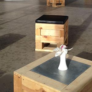 Box Pouf bois palette