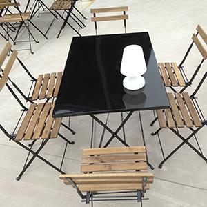 Table de jardin – noire