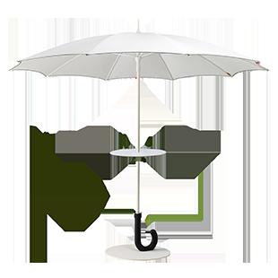 Parasol Mange-debout