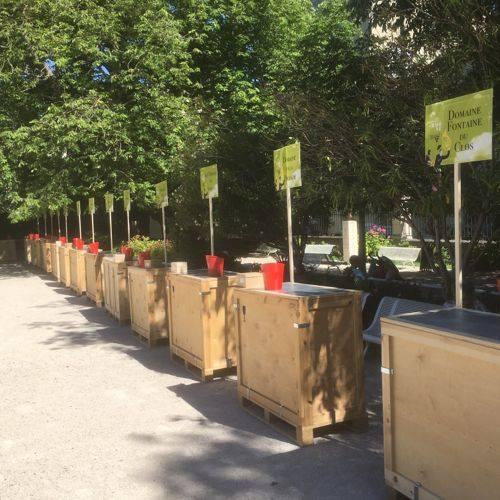 Dégustation des Compagnons des Côtes du Rhône. Square Agricol Perdiguier – Avec BLAM EVENTS