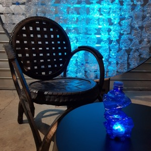 Bouteille recyclée lumineuse led